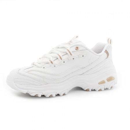 Zapatillas Skechers D'Lites Blanco-Bronce