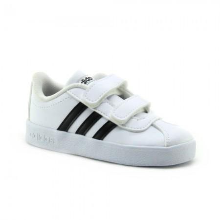 Zapatillas Adidas VL Court Blanco-Negro