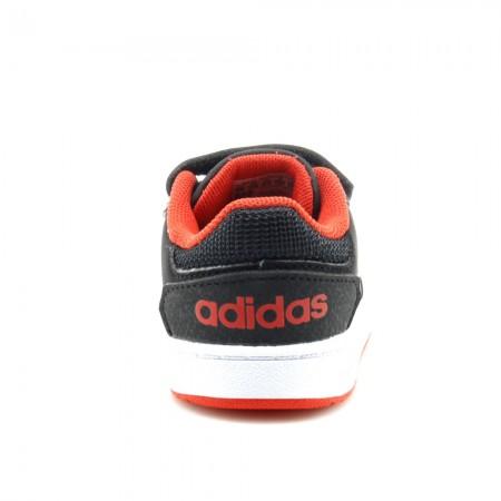 Zapatillas niño Adidas Hoops Negro-Blanco-Rojo