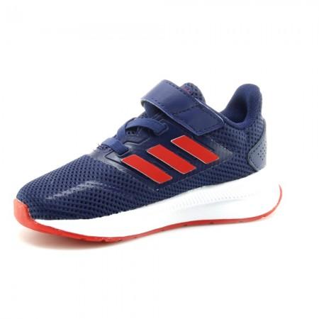 Zapatillas Adidas RunFalcon Azul-Rojo