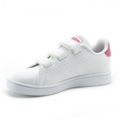 Zapatillas Adidas Advantage Blanco-Fucsia 3V