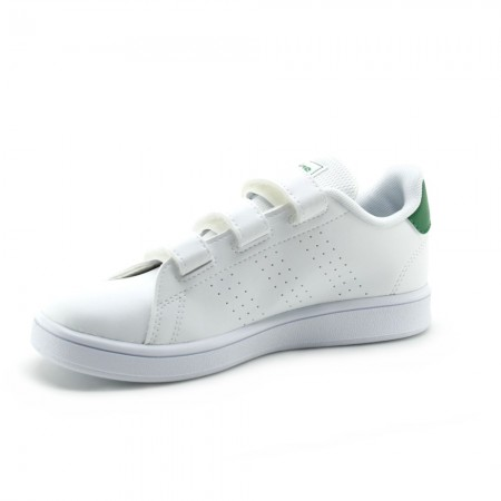 Zapatillas Adidas Advantage Blanco-Verde 3V