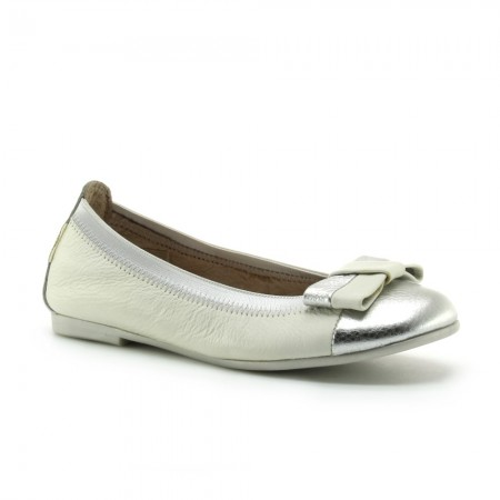 Zapatos Hispanitas Plata-Blanco