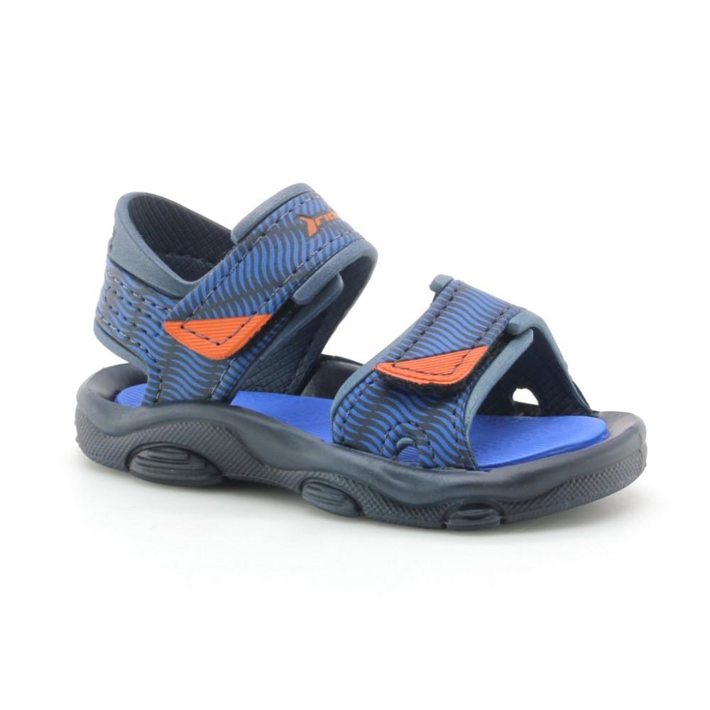 Sandalias de agua Raider Baby Azul-Naranja