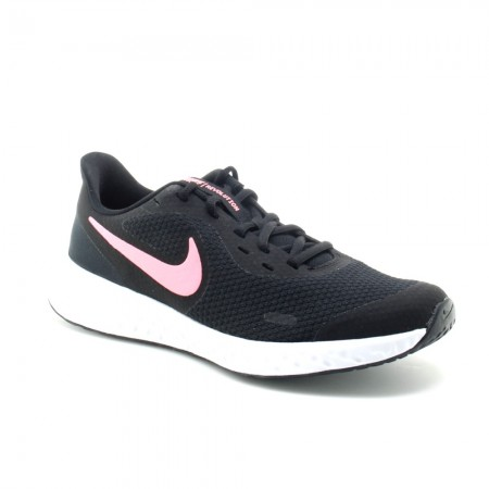 Zaptillas Nike Revolution 5 Negro-Rosa C