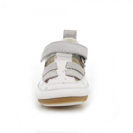 Zapatos bebé Robeez Miniz Blanco-Plata