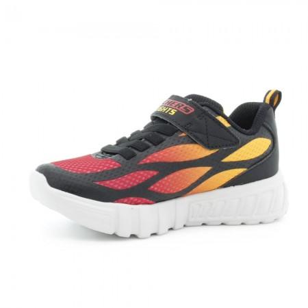 Zapatillas con luces Skechers Flex Glow Negro-Rojo