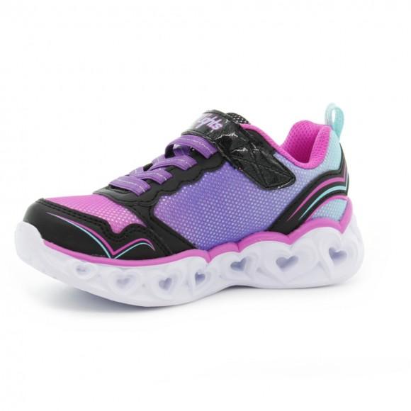 Zapatillas con luces Skechers Heart Lights Negro-Rosa
