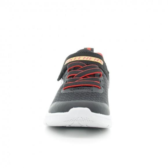 Zapatillas Skechers Microspec Negro-Rojo