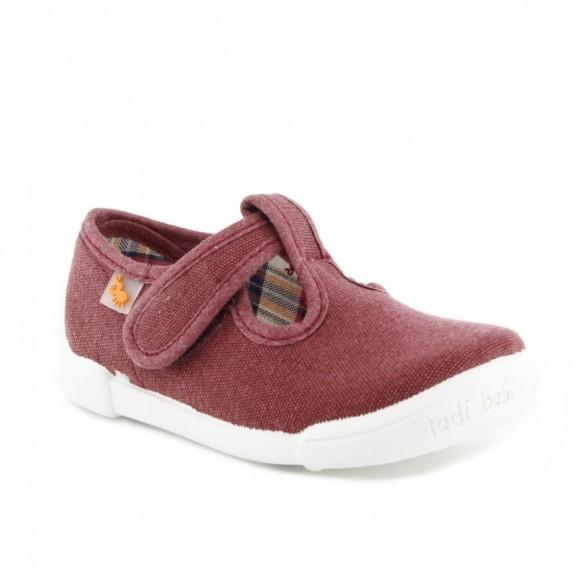 Zapatos lona Vulladi Picolo Granate