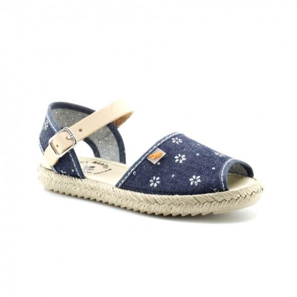 Sandalias Vulladi 7355-646 Jeans Flores