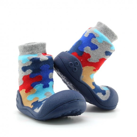 Zapatos Attipas Puzzle Azul