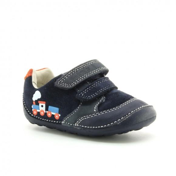 Zapatos Bebé Clarks Tiny Tom Azul