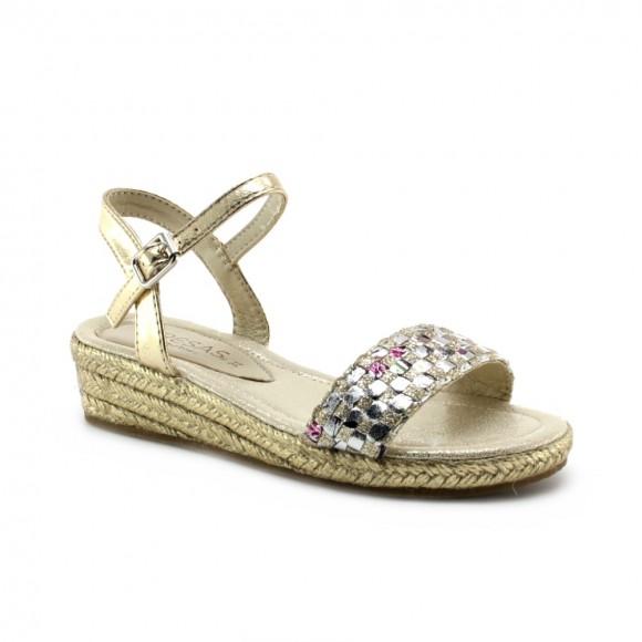 Sandalias de niña Conguitos Metal Oro