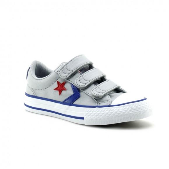 Converse Star Player Gris-Azul-Rojo 3v