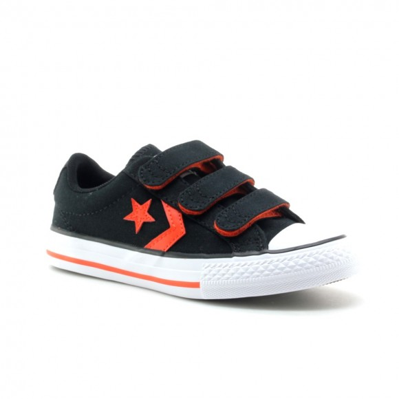 Zapatillas Converse Star Player Negro-Rojo 3V