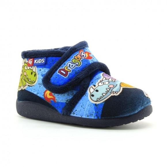 Zapatillas de casa Garzon Dragon Azul