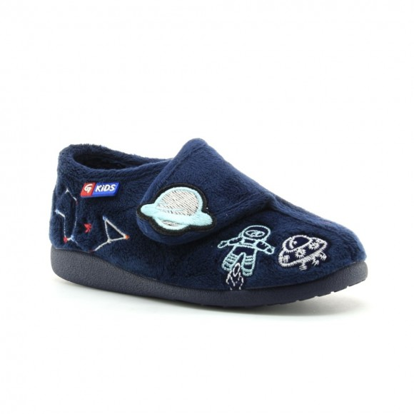 Zapatillas de casa Garzon azul planetas