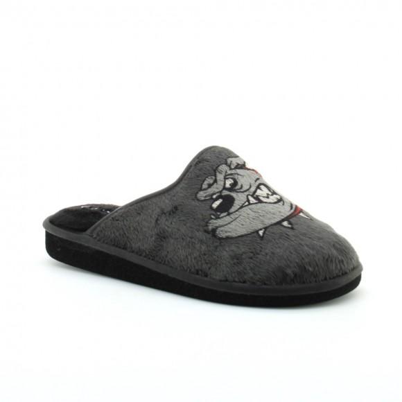 Zapatillas de casa Garzon Negro perro