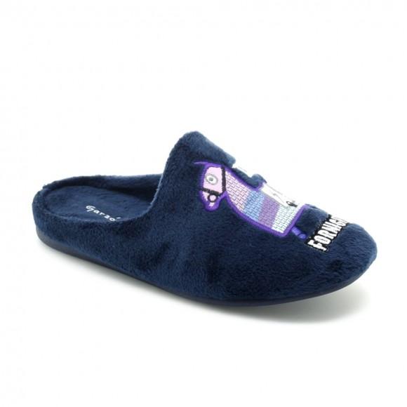 Zapatillas de casa Garzón Llama Azul