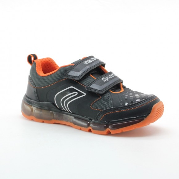 Zapatillas con luces Geox Android Negro-Naranja