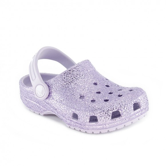 Sanalias de agua Crocs Classic Glitter Lila