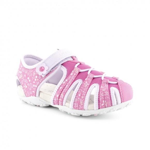 Sandalias de niña Geox Roxanne Fucsia-Lila