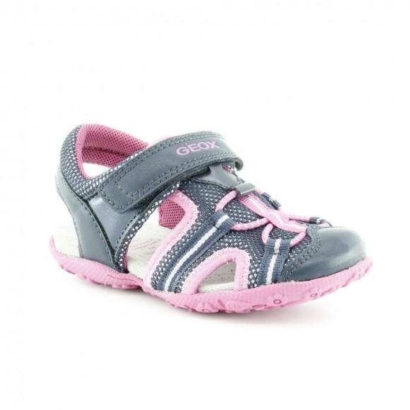 Sandalias de niña Geox Roxanne Azul-Fucsia
