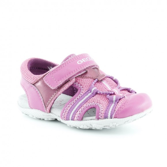 Sandalias de niña Geox Roxanne Fucsia-Rosa