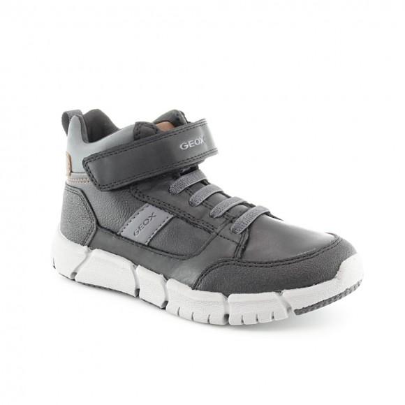 Zapato abotinado Geox Flexyper Negro-Gris