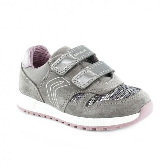 Zapato Geox Alben Gris-Rosa