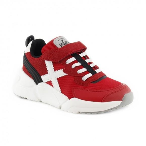 Zapatillas Munich niños Mini Track Rojo vco
