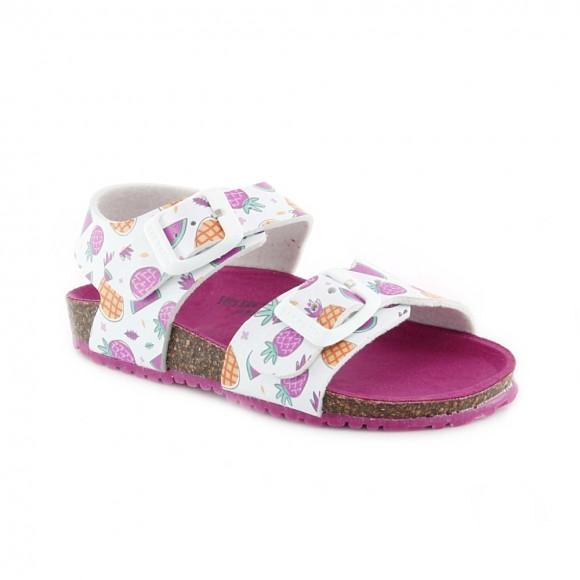 Sandalias de niña Garvalin 212436-A Blanco Frutas.