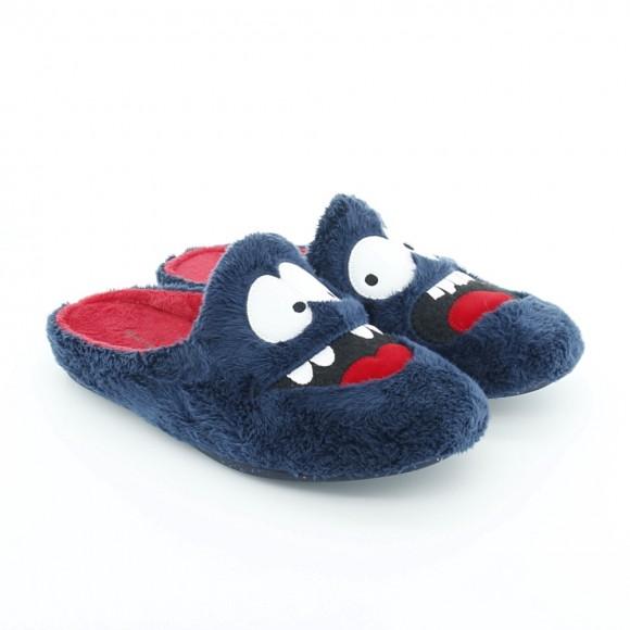 Zapatillas de casa Garzón Feliz-Asustado Azul