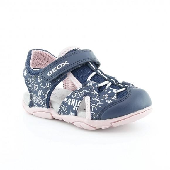 Sandalias de niña Geox Agasim Azul-Rosa.