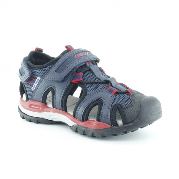 Sandalias de niño Borealis Azul-Rojo.