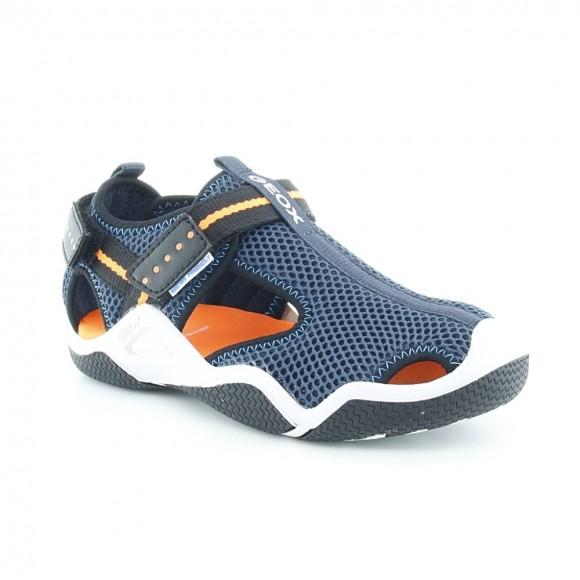 Sandalias de niño Wader Azul-Naranja.