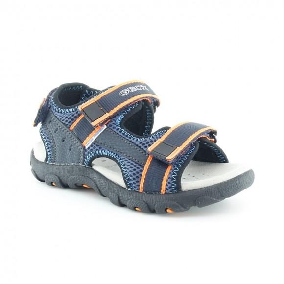 Sandalias de niño Strada Azul-Naranja
