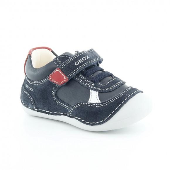 Zapatos Geox Tutim Azul-Rojo