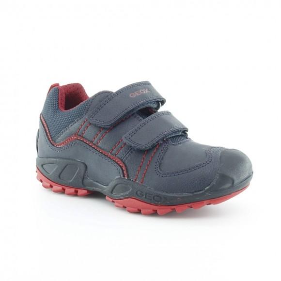 Zapatos Geox Savage Azul-Rojo