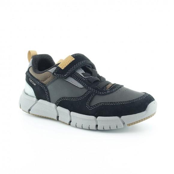Zapatos Geox Flexper Negro-Amarillo.