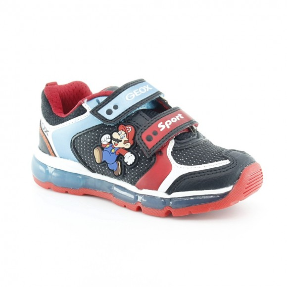 Zapatillas con luces Mario Negro-Rojo