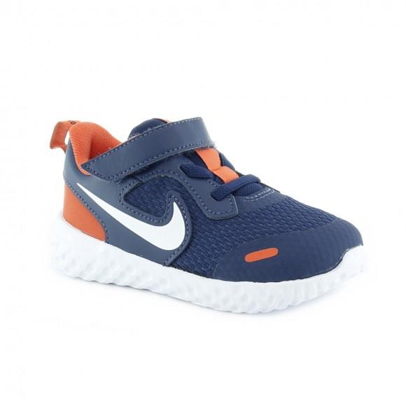 Zapatillas Nike Revolution 5 Azul-Naranja BB