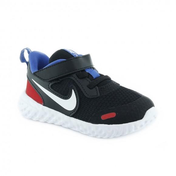 Zapatillas Nike Revolution 5 Negro-Rojo bb