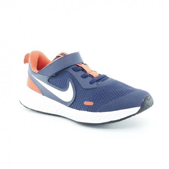 Zapatillas Nike Revolution 5 Azul-Naranja J