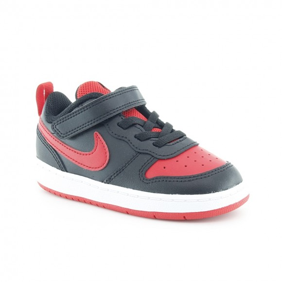 Zapatillas Nike Court Borough Negro-Rojo.