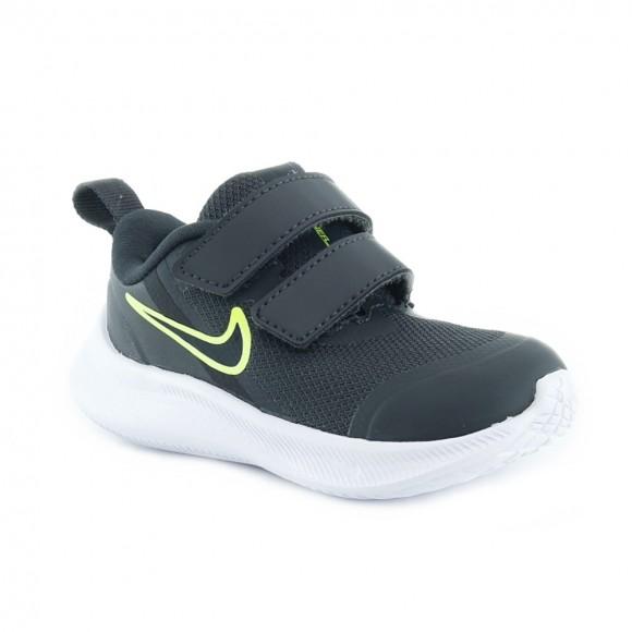 Zapatillas Nike Star Runner 3 Gris-Verde BB.
