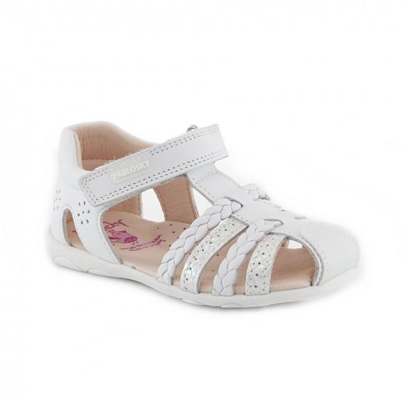 Sandalias de niña Pablosky 092600 Blanco.