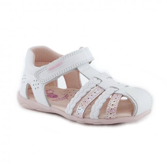 Sandalias de niña Pablosky 092607 Blanco-Rosa