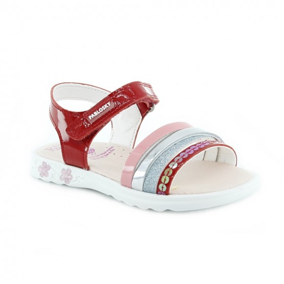 Sandalias de niña Pablosky 097069 Rojo